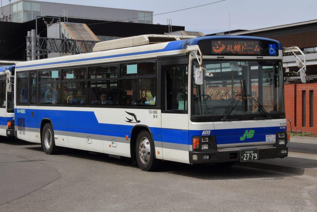【ジェイ・アール北海道バス】531-0961(札幌200か2779)が貸切登録化!